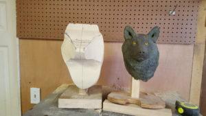 Wolf head initial bandsaw work