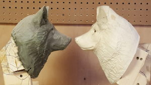 Gray Wolf sculpture