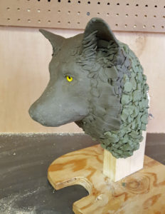 Sculpting, Gray Wolf,