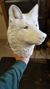 gray wolf, wood work, carving, sculpting, woodworking, fine art, painting