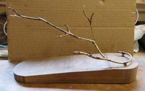 Brass armature, sculpting, bird carving