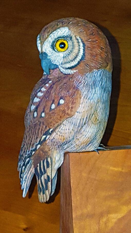 Fine art, Wood carving, Sculptue, wood sculpture, Owls, Bird lovers.