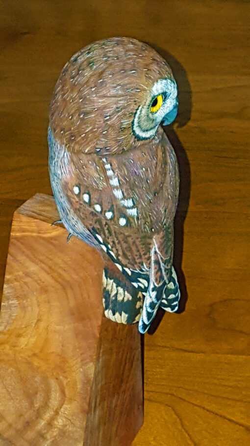 Fine Art, Owls, Sculputue, Wood carving, fine art, Nature, decor,