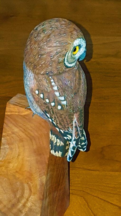 Fine Art, Owls, Sculputue, Wood carving, fine art, Nature, decor,