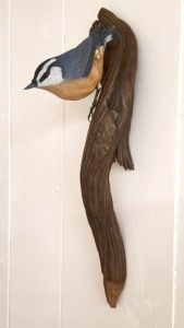 sculpting, birds, nuthatch, fine art.