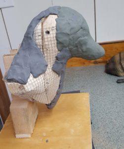 Sculpting, Red Fox, fine art, clay models