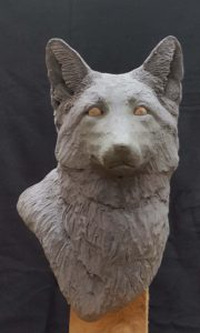 Red Fox, sculpting, Wood Carving,