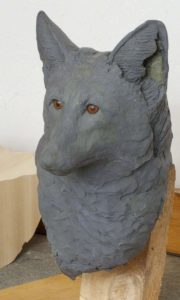 sculpting, clay sculpting, wood carving, red fox, wildlife,