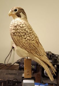 carving, sculpting, wood carving, peregrine falcon, wildlife art, raptors, birds of prey, bird carving,