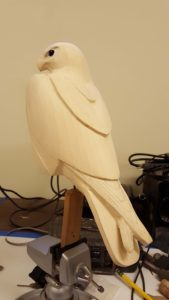 carving, peregrine falcon, sculpting, wildlife art