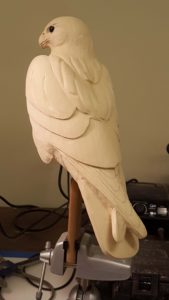 carving, bird carving, sculpting, peregrine falcon, wild life art, birds, raptors