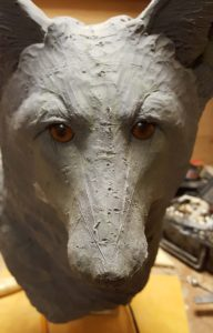 wood carving, sculpting, red fox, fine art, wildlife, nature