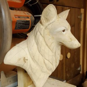 sculpting, wood carving, Red Fox, wood sculpting, fine art.