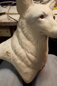 sculpting, Wildlife Art, red fox, wood carving. fine art wildlife.