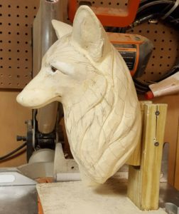 sculting, Wood carving, wood sculpture, fine art, wildlife art, how to sculpt af fox, red fox.
